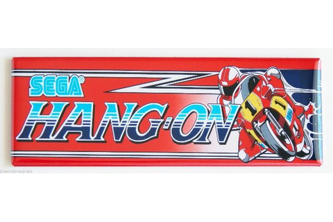 Sega Hang-On FRIDGE MAGNET Arcade Video Game Marquee ...
