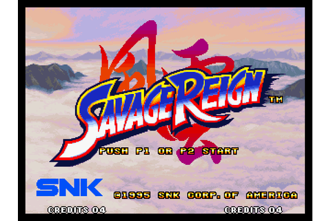 Savage Reign (1995) by SNK Neo-Geo game