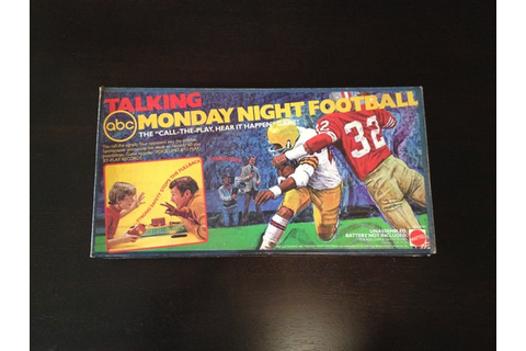 1977 Talking ABC Monday Night Football Board Game by Mattel