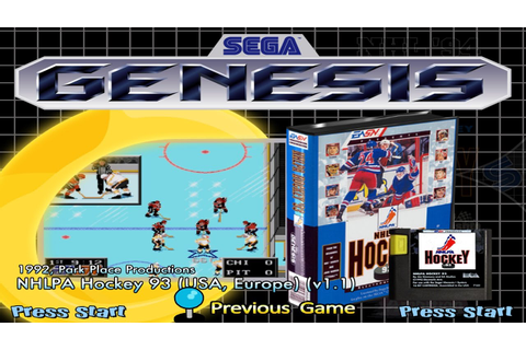 NHLPA Hockey '93 Genesis Gameplay - Stanley Cup Run ...