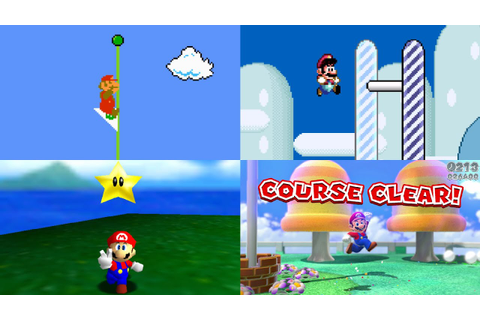 Evolution of Level Endings in Mario games - YouTube