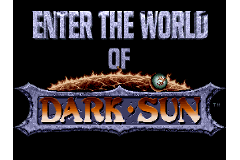 Download Dark Sun: Shattered Lands | DOS Games Archive