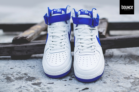 Nike Air Force 1 High OG White Blue - Sneaker Bar Detroit