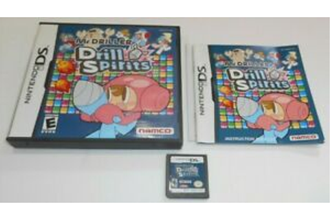 Mr Driller Drill Spirits Nintendo DS Game Complete Namco ...