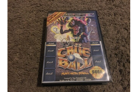 Crüe Ball: Heavy Metal Pinball (Sega Genesis, 1992) WITH ...