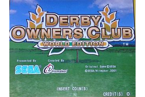 Derby Owners Club: World Edition - Videogame by Sega