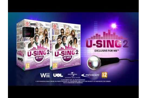 U-SING 2, the new karaoke Wii™ game for Xmas 2010 - YouTube