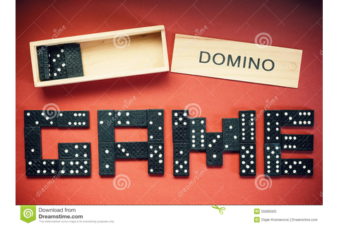 Domino Game Stock Photo - Image: 55685003