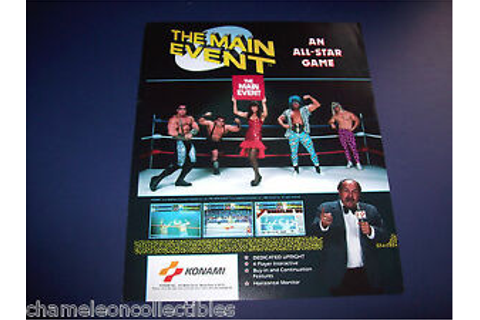 THE MAIN EVENT By KONAMI 1988 ORIGINAL VIDEO ARCADE GAME ...