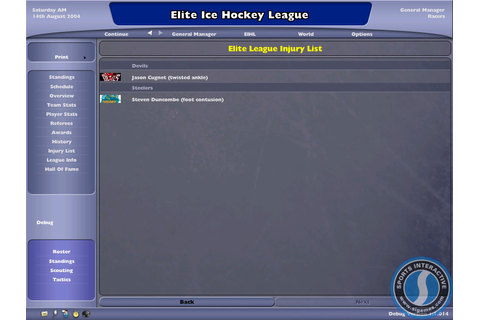 NHL: Eastside Hockey Manager 2005 PC Galleries | GameWatcher