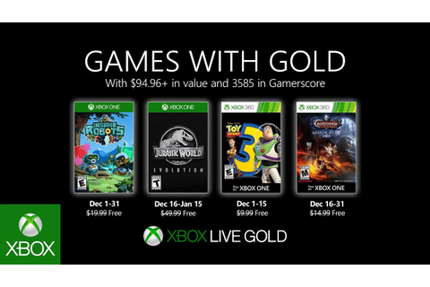 Xbox - December 2019 Games with Gold - YouTube