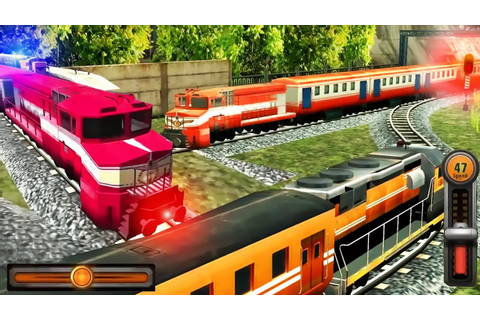 Train Racing Games 3D 2 Player - Railway Station Train ...