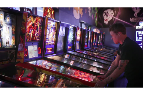 At The 1up, you can play arcade games and pinball while ...