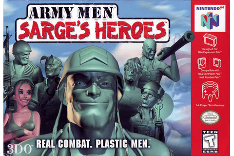 Army Men Sarge's Heroes Nintendo 64 Game