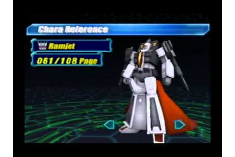 Transformers Character Gallery (PS2 Japan) - YouTube