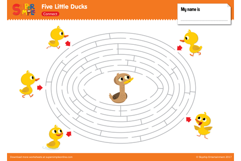 Five Little Ducks - Maze - Super Simple