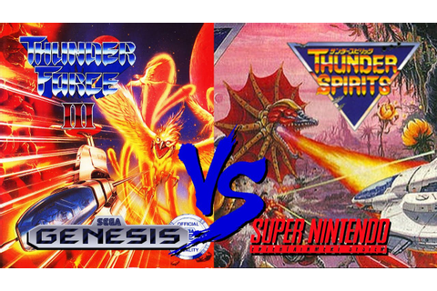 Thunder Force III Vs. Thunder Spirits | Sega Genesis Vs ...
