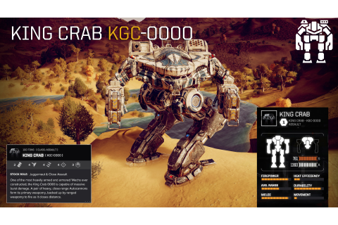 BATTLETECH :: 'Mech Highlight - King Crab