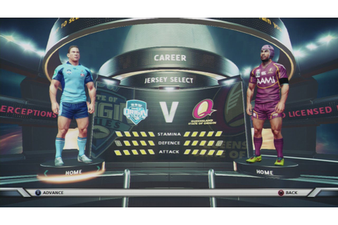 Rugby League live 2 Gameplay State of Origin game 1 - YouTube