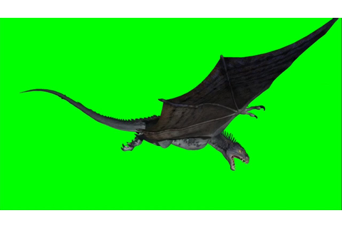 Green Screen Game of Thrones like Dragon 2 / Flying Dragon ...