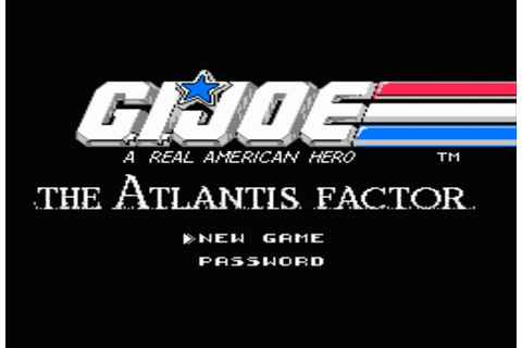 Lukie Games: G.I. Joe: The Atlantis Factor (NES)