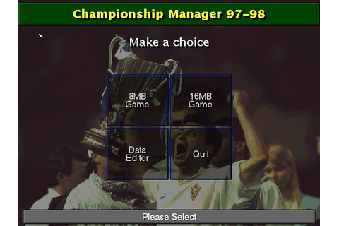 Championship Manager: Season 97/98 Download - Old Games ...