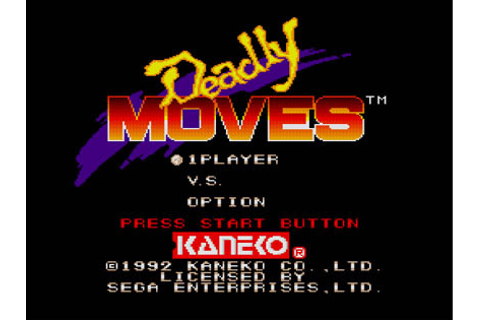 Deadly Moves Review for Genesis (1992) - Defunct Games