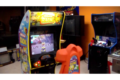 Nicktoons Racing Arcade Game ! Gameplay, cabinet design ...
