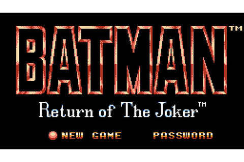 Batman: Return of the Joker - NES Gameplay - YouTube