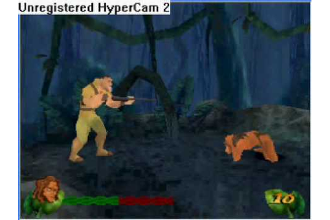 Tarzan action game , clayton dies , guide last level - YouTube