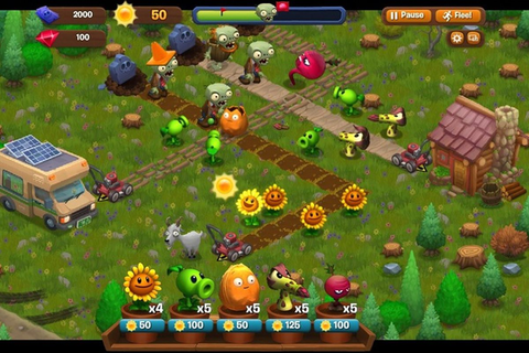 'Plants vs. Zombies Adventures' is a Facebook game you'll ...