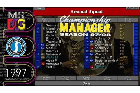 Championship Manager: Season 97/98 - MS-DOS - Part 2 - YouTube