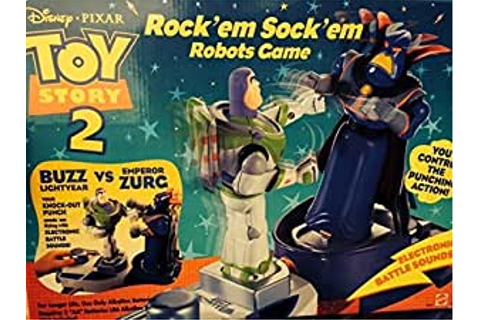 Amazon.com: Toy Story Rock 'em Sock 'em Robots Game: Toys ...