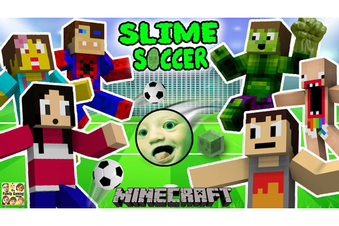 FGTEEV FAMILY SLIME SOCCER MATCH! Super Fun Minecraft Game ...