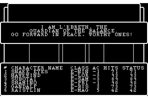 Wizardry III: Legacy of Llylgamyn Download (1983 Role ...