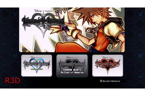 Kingdom Hearts HD 1.5 ReMIX - Startup + All Games Menus ...