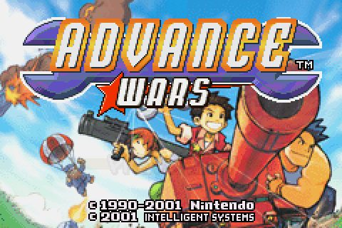 Advance Wars (2001) by Intelligent Systems GBA game