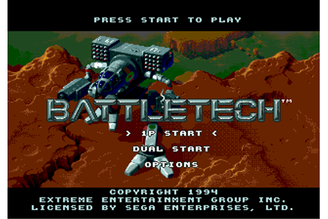 Play BattleTech - A Game of Armored Combat Sega Genesis ...