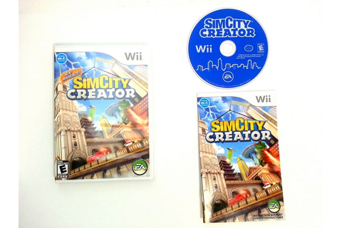 SimCity Creator game for Wii (Complete) | The Game Guy