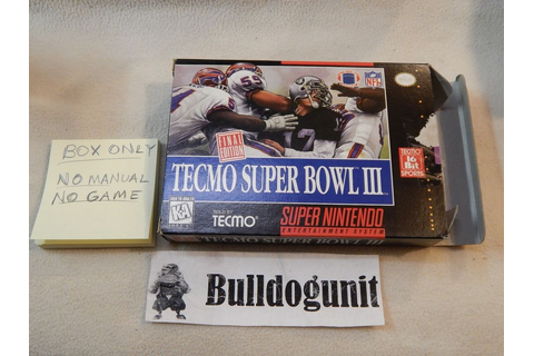 Tecmo Super Bowl III Final Edition Super Nintendo Snes Box ...