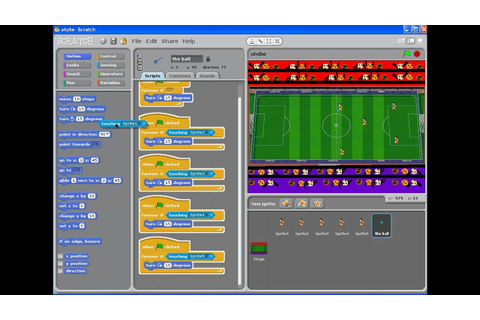 how to make a football game on scratch part 3 - YouTube