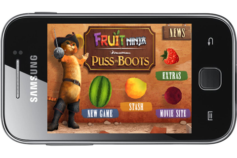 Fruit Ninja Puss in Boots GALAXY Y | Android Tutorial