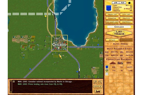 Games World: Rails Across America Game