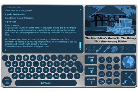 Play 1984's Hitchhiker's Guide to the Galaxy text game for ...