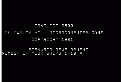 Download Conflict 2500 (Apple II) - My Abandonware
