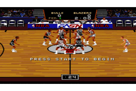 Bulls vs. Blazers and the NBA Playoffs SNES Gameplay HD ...