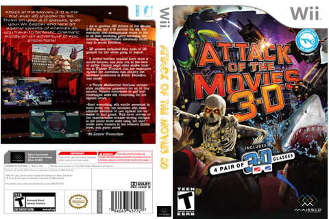 Games Covers: Attack Of The Movies 3D - Wii