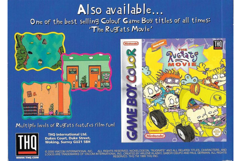 Rugrats: Time Travelers (1999) Game Boy Color box cover ...