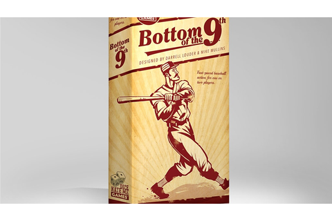 Bottom of the 9th: A Dice & Card Game of Classic Baseball ...