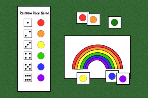 Speech Therapy Ideas: Rainbow Dice Game-versatile game can ...